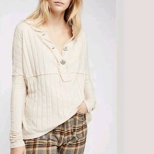 Free People We The Free In The Mix Henley Top Tee